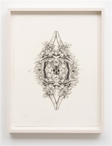 untitled (rorschach flowers 2) by aurel schmidt