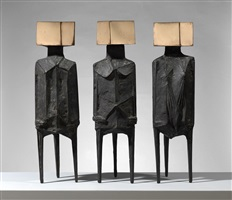 three standing figures by lynn chadwick