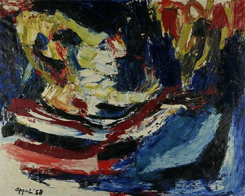 head at the sea by karel appel