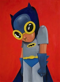 orange batman by hebru brantley