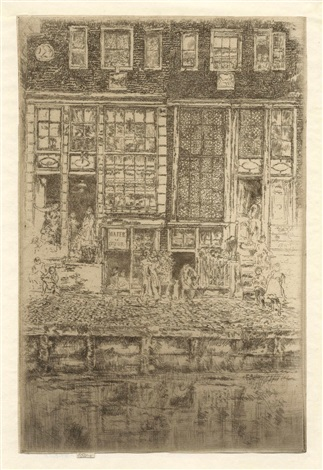 the embroidered curtain by james abbott mcneill whistler
