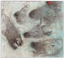 trois chevaux, une chèvre etc by miquel barceló