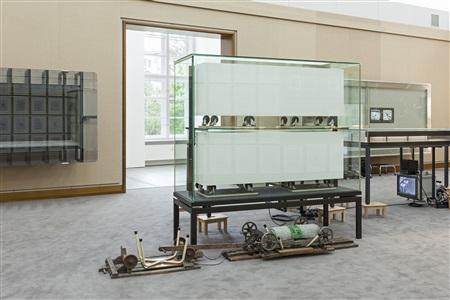 installation view 2 (frankfurter block) by reinhard mucha