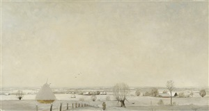 soester winterlandschaft by eberhard viegener