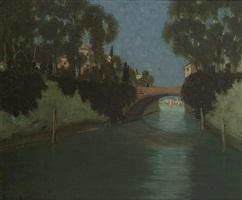 italienische stadt mit kanal by benno becker