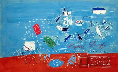 composition marine by raoul dufy