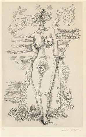abstract female figure by andré masson