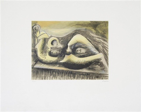 reclining figure idea for metal sculpture by henry moore