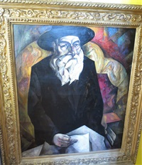 portrait of an old jew (uncle of the artist) by natan isaevich altman