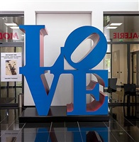 love, blue/red by robert indiana