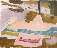 nude by ivon hitchens