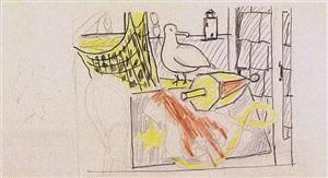 untitled (lobster and seagull) by roy lichtenstein