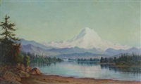 mt. tacoma from lake washington by grafton tyler brown