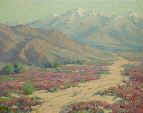 wild verbenas colorado desert near palm springs by benjamin chambers brown