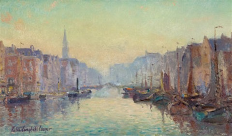 a canal in rotterdam by colin campbell cooper
