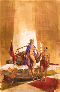 john carter of mars no. 4, thuvia, maid of mars (study) by robert kennedy abbett