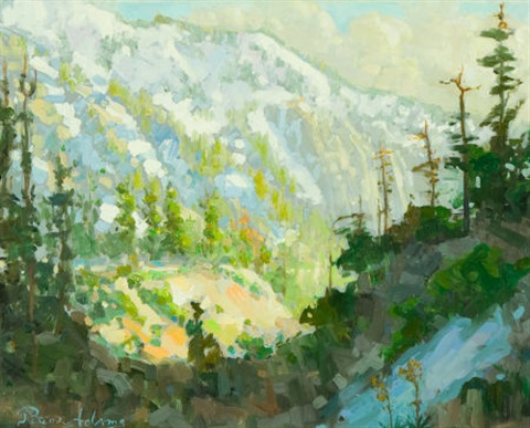 early spring afternoon light on mount baldy by peter adams