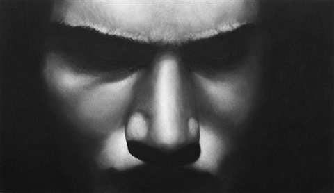 untitled (boxer, vitali) by robert longo