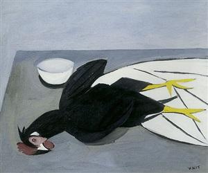 still life - cockerel by william scott