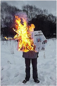 untitled, from the series 'burning news' by tim parchikov