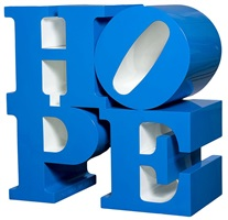 hope blue/white by robert indiana