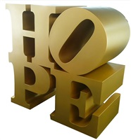 hope all gold by robert indiana