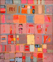 untitled (pink and gray grid) by beatrice mandelman