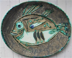 poisson chine (mottled fish) (r 170) by pablo picasso