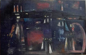 abstract night scene by louis ribak