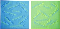 reversal pair blue plus green (set of 2) by julian stanczak