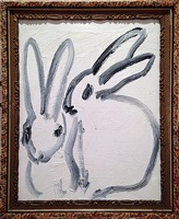 white bunnies by hunt slonem