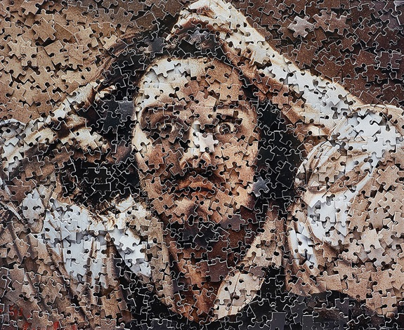 the desperate man, after courbet by vik muniz