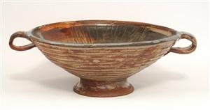 pond farm large bowl with handles by marguerite friedländer-wildenhain