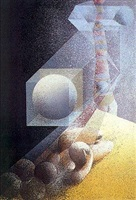 mujer acostada y cubo by arnaldo coen