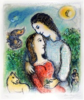 the adolescents by marc chagall
