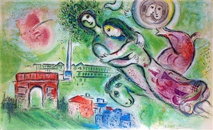 roméo et juliette (romeo and juliet) by marc chagall