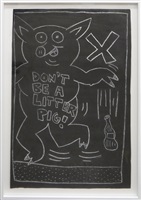 dont be a litter pig! by keith haring