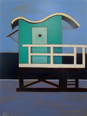 life guard station in indigo by melissa chandon