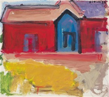 red house with blue door by robert de niro, sr.
