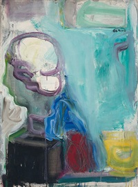 still life with greek head by robert de niro, sr.
