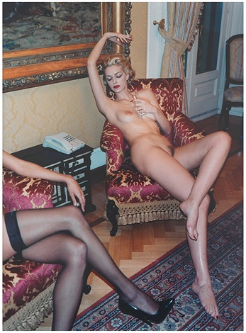 simonetta and renée, grand hotel milan by helmut newton