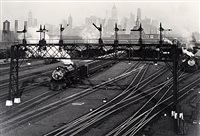 hoboken railroad yards, new jersey by berenice abbott