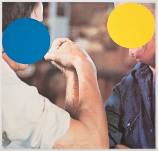 two opponents (blue & yellow) by john baldessari