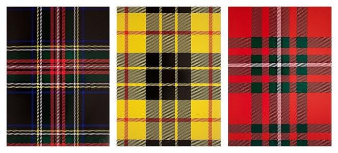 tartan sets by sarah charlesworth