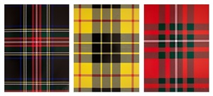 tartan sets by sarah charlesworth