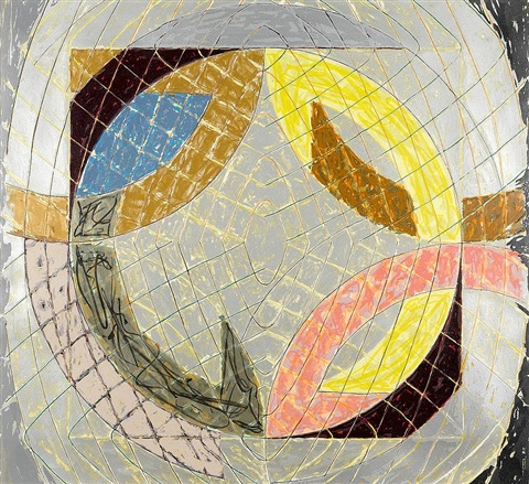 polar co-ordinates viii by frank stella