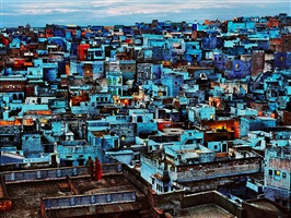 the blue city, india by steve mccurry