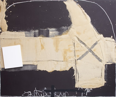 collage sobre matèria by antoni tàpies