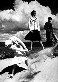 golf, le touquet by norman parkinson