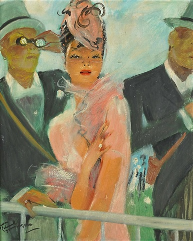 at the races by jean-gabriel domergue